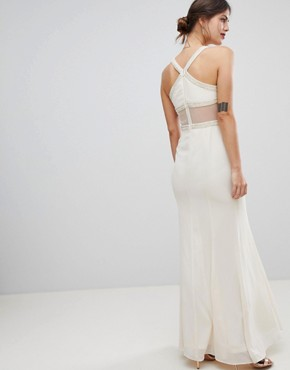 photo Maxi Dress with Embellished Detail by Minuet, color Cream - Image 2
