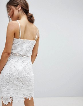 photo Lace Cami Dress by Parisian, color White - Image 2