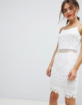 photo Lace Cami Dress by Parisian, color White - Image 1