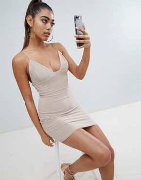 photo Mini Dress in Nude by Fashionkilla, color Nude - Image 1