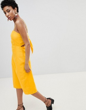 photo Midi Dress with Cut Out Back by Vero Moda Tall, color Yellow - Image 2
