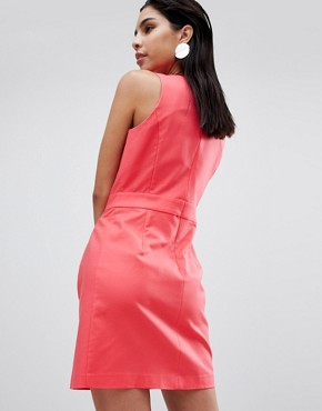 photo Tailored Dress with Hardware Detail by Sisley, color Pink - Image 2