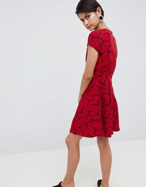 photo Rosalind Printed A-Line Dress by French Connection, color Cranberry Crunch - Image 2