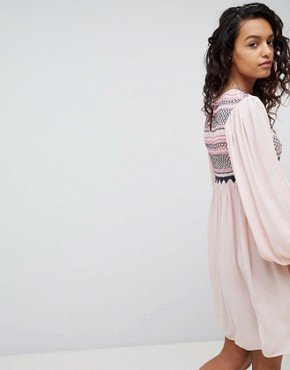 photo Late Night Picnic Smock Dress by Free People, color Pink - Image 2