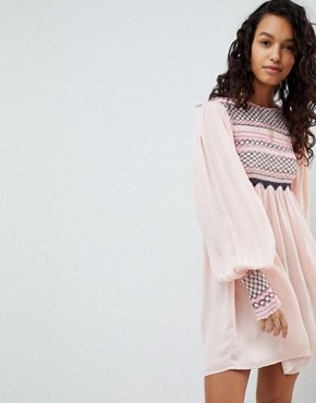 photo Late Night Picnic Smock Dress by Free People, color Pink - Image 4