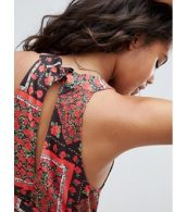 photo Scarf Print Maxi Sundress with Belt by ASOS DESIGN Tall, color Multi - Image 3