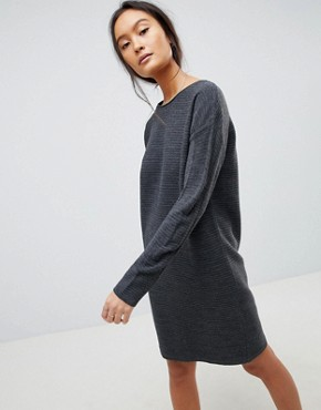 photo Jumper Dress in Ripple Stitch by ASOS DESIGN, color Grey Marl - Image 1