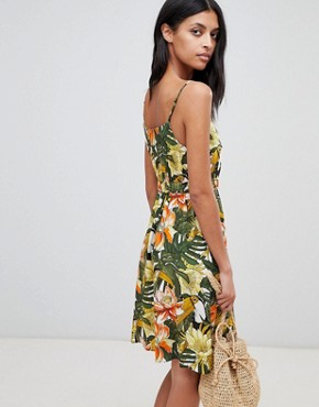 photo Toucan Cami Dress by Warehouse, color Green - Image 2