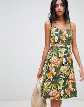 photo Toucan Cami Dress by Warehouse, color Green - Image 1