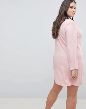 photo Tux Blazer Mini Dress with Pearl Buttons by ASOS CURVE ULTIMATE, color Blush - Image 2
