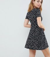 photo Ultimate Mini Tea Dress in Scatter Spot by ASOS DESIGN Petite, color Multi - Image 2