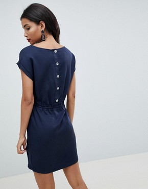 photo Woven Tunic Dress by Esprit, color Navy - Image 2