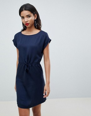 photo Woven Tunic Dress by Esprit, color Navy - Image 1