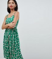 photo Pineapple Print Midi Sun Dress in Green by Esprit, color Green - Image 1