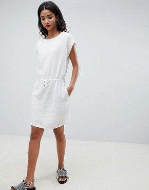 photo Drawstring Smock Dress by Esprit, color White - Image 1