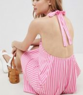 photo Halter Swing Sundress in Cut About Stripe by ASOS DESIGN, color Pink/White - Image 2