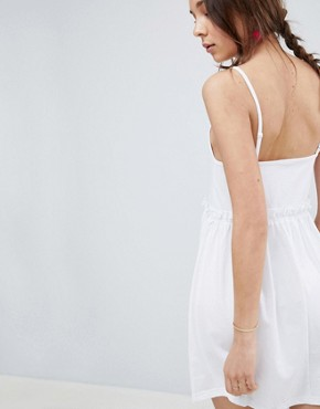 photo Square Neck Smock Sundress by ASOS DESIGN, color White - Image 2