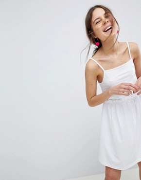 photo Square Neck Smock Sundress by ASOS DESIGN, color White - Image 1