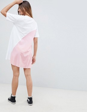 photo Mini Colour Block t-shirt Dress by ASOS DESIGN, color Multi - Image 2