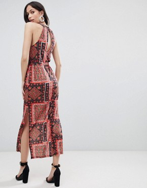 photo Scarf Print Maxi Sundress with Belt by ASOS DESIGN, color Scarf Print - Image 2