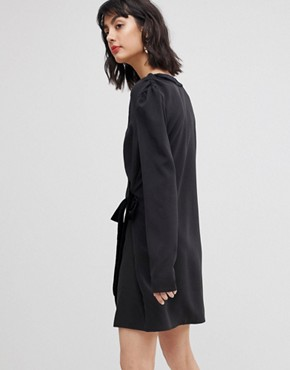photo Tux Wrap Dress by Vero Moda, color Black - Image 2