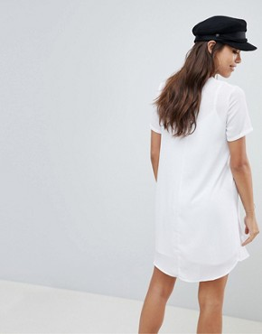 photo Sheer Shift Mini Dress by ASOS DESIGN, color White - Image 2