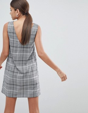 photo Check Mini Shift Dress by ASOS DESIGN, color Mono - Image 2