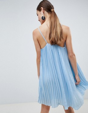 photo Cami Swing Dress by Missguided Petite, color Light Blue - Image 2