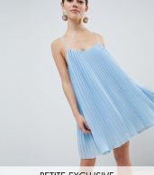 photo Cami Swing Dress by Missguided Petite, color Light Blue - Image 1