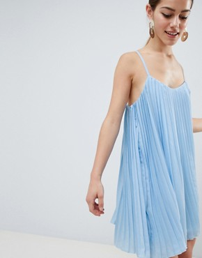 photo Cami Swing Dress by Missguided Petite, color Light Blue - Image 3