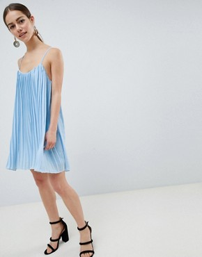 photo Cami Swing Dress by Missguided Petite, color Light Blue - Image 4