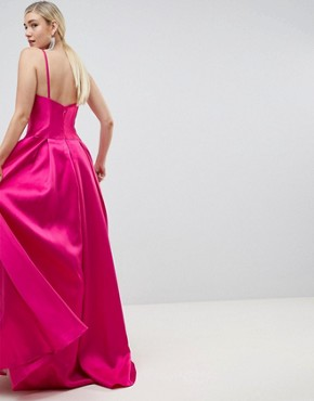 photo Square Neck Maxi Prom Dress by Jovani, color Pink - Image 2