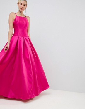 photo Square Neck Maxi Prom Dress by Jovani, color Pink - Image 1