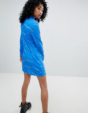 photo All Over Print Dress by the Ragged Priest, color Blue - Image 2