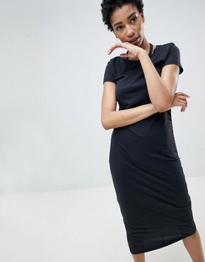 photo Asymmetric Jersey Midi Dress by Noisy May Tall, color Black - Image 2