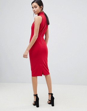 photo Halter Neck Dress by Closet London, color Red - Image 2