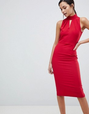 photo Halter Neck Dress by Closet London, color Red - Image 1