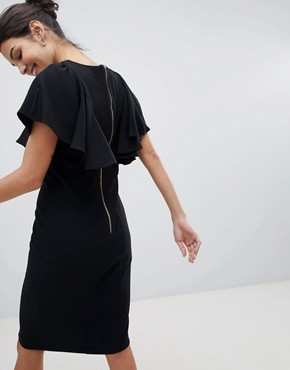 photo Dress with Frill Detail by Closet London, color Black - Image 2