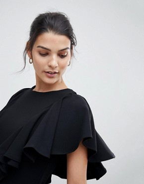 photo Dress with Frill Detail by Closet London, color Black - Image 3