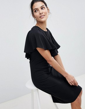 photo Dress with Frill Detail by Closet London, color Black - Image 4