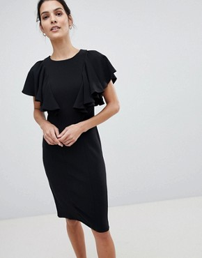 photo Dress with Frill Detail by Closet London, color Black - Image 1