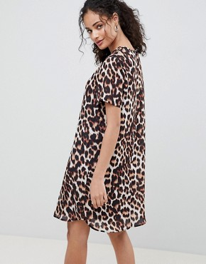 photo Sheer Animal Shift Mini Dress by ASOS DESIGN, color Animal Print - Image 2