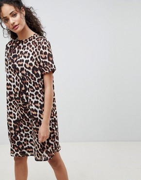 photo Sheer Animal Shift Mini Dress by ASOS DESIGN, color Animal Print - Image 1
