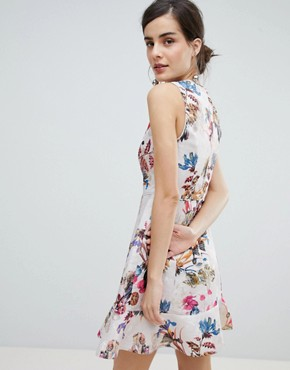 photo Occasion Floral Jacquard Skater Dress by Oasis, color Multi - Image 2