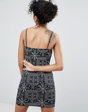 photo Cami Dress in Bandana Print by Daisy Street, color Black - Image 2