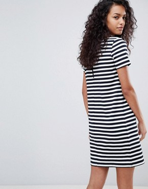 photo Stripe Short Sleeve Dress by Vila, color White/Navy - Image 2