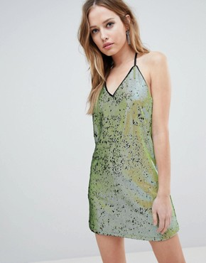 photo T Bar Sequin Dress by Oh My Love, color Citrus Sequin - Image 1