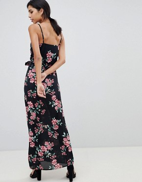 photo Wrap Front Printed Maxi Dress by Oh My Love, color Blossom Print - Image 2
