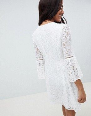 photo Allover Lace Mini Dress by Queen Bee, color White - Image 2