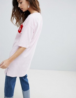 photo Slogan T-Shirt Dress by Soaked in Luxury, color Pink - Image 2